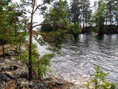 Lake, rocks and trees