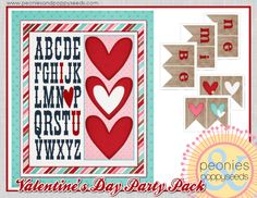It's Written on the Wall: {Freebie} Gotta see this Huge Valentine's Day Party Pack Printables