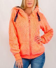 Look what I found on #zulily! Exist Orange & Navy Zip-Up Hoodie by Exist #zulilyfinds