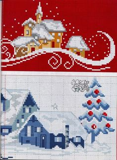 Brilliant Cross Stitch Embroidery Tips Ideas. Mesmerizing Cross Stitch Embroidery Tips Ideas. Cross Stitch House, Xmas Cross Stitch, Cross Stitch Borders, Cross Stitch Charts, Cross Stitch Designs, Cross Stitching, Cross Stitch Embroidery, Cross Stitch Patterns, Christmas Tree Pattern