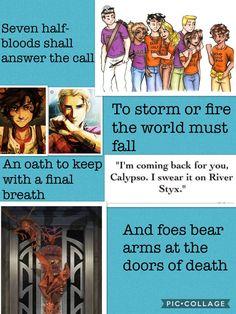 Prophecy from HoO heroes of Olympus