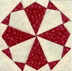 "LOVING STITCHES BY CAROL JEAN.: Dear Jane Quilt Block, F-2, ""Kaleidoscope"""