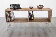 Wood Sideboard Hairpin Legs Sideboard mid century by dokke on Etsy