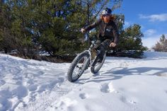Fat biking the Little Rainbow Trail, Salida, CO. Rider: Scott Link. Photo: Greg Heil