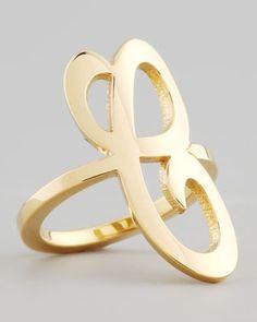 Gold signature ring