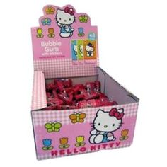 Hello Kitty Gum with Sticker - (Box of 80 Pieces)