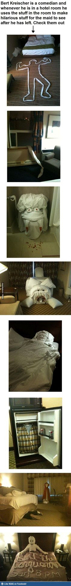 Hotel pranks... hahaha if this ever happened when i worked at a hotel i would have died laughing
