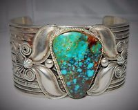 "Details about HUGE Andy Cadman Navajo ""Royal"" Turquoise Sterling Silver Bracelet, 156 Grams - List of the best jewelry Navajo Jewelry, Boho Jewelry, Jewelry Design, Fashion Jewelry, Jewellery Box, Silver Jewellery, Jewelry Gifts, Turquoise Jewelry, Turquoise Bracelet"