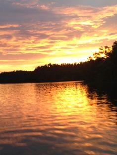 Sunset on Lake Mitchell Coosa County, AL July 2013 Photo taken by Leslie Ward
