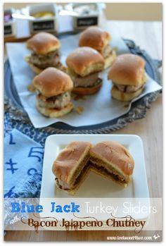 Blue Jack Turkey Sliders with Bacon Jalapeno Chutney