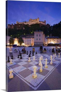 Giant chess board.. Kapitelplatz - Saltzburg, Austria