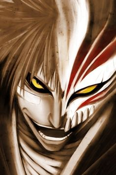 Ichigo Kurosaki, I remember this used to be my PC's wall paper for a long time, always loved it when he used his Hollow Mask.