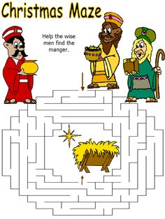 Wisemen Maze for the Sunday School Lesson.