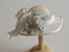 Handmade 1/12th scale dollhouse miniature hat