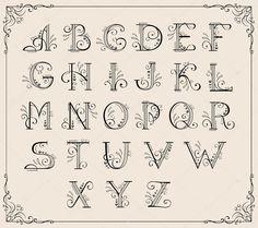 Afbeeldingsresultaat voor kalligrafie alfabet