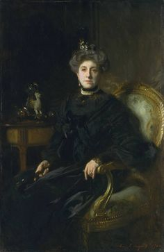 John Singer Sargent, 'Mrs Wertheimer' 1904. The second of the two portraits of Mrs Wertheimer (née Flora Joseph), painted in 1904. The earlier version  shows her standing.