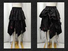 【楽天市場】ゴシック V系 ゴスパンク アシンメトリー ロングスカート 2ウエイ シャーリング むら染め 黒:PARROT
