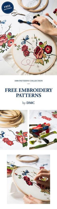 FREE EMBROIDERY PATTERNS from  dmc.com. jwt