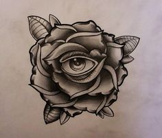 Evil eye within a rose
