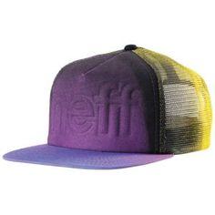 Neff Fader Snapback - Men's - Skate - Accessories - Purple/Black