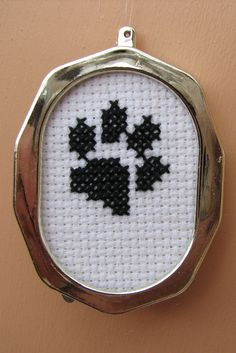 Handmade Cross Stitch Paw Print Top by RikkasCreations on Etsy