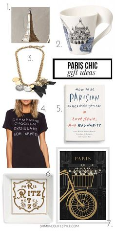 Paris themed Christmas gift ideas. Gift some Paris style!