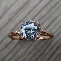 Grey Moissanite Twig Engagement Ring - Gorgeous Alternatives to Traditional Wedding and Engagement Rings - Photos