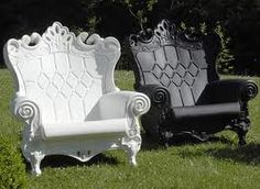 Baroque Outdoor Chair by SAW Italy - Queen of Love Love Chair, Diy Chair, Queen Of Love, Queen Chair, Lawn Furniture, Outdoor Furniture, Gothic Furniture, Funky Furniture, Round Chair