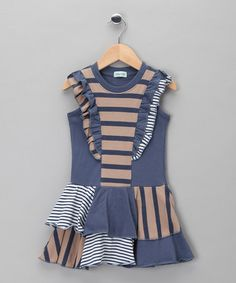 Take a look at this Blue Stripe Skater Dress - Toddler & Girls by Lilly & Sid on #zulily today!