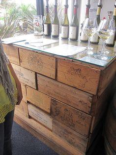 Cool idea for a tall bar table