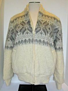 803bebc6a64 Vintage Alafoss of Iceland Icewool Women's Medium Zip Sweater Fair Isle  Nordic #Alafoss #CardiganSweater