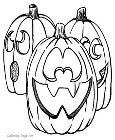 Halloween coloring book pages - Jack-O-Lanterns to print and color!