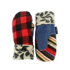 Red Black Wool #Mittens Recycled Wool Lumberjack by SweatyMitts  Sweater Mittens for women