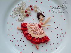 Polymer clay chibi ballerina doll by KatalinHandmade.deviantart.com on @DeviantArt