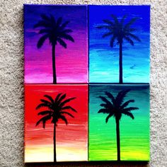 Hey, I found this really awesome Etsy listing at https://www.etsy.com/listing/203847227/palm-tree-silhouettes-on-bright-sunset