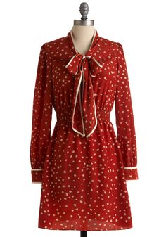 Work of Heart Dress. As an artist, your imagination influences everything you do. #red #modcloth