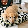 Pillow style dog beds in beautiful decorator fabrics. Pillow beds are available in round, square and rectangular shapes in various sizes.