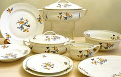 french antique dinnerware sets