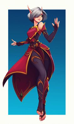 """Teal, a Blood Elf Commission for Fantasy Character Design, Character Drawing, Character Design Inspiration, Character Concept, Concept Art, Character Sheet, Elf Characters, Fantasy Characters, Blood Elf"