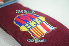 Barcelona Soccer Football Socks Kids Youth - Maroon / Red by C & S. $6.99. Long to the knee. Comfortable and airy. Kids average size, one size fits all. Other team logo also available. A must have item for soccer fans