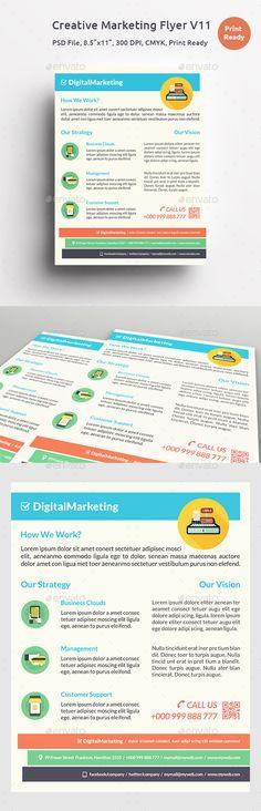 Creative Marketing Flyer V By Khidd On Creative Market  Khidd