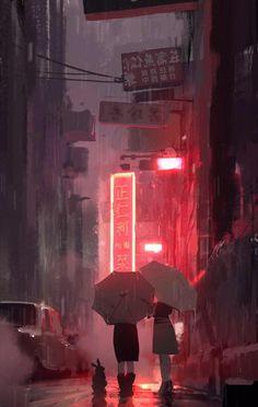 32 Ideas For Photography Street Art Pictures Illustrations, Illustration Art, Anime Scenery, Aesthetic Art, Cyberpunk, Aesthetic Wallpapers, Art Inspo, Amazing Art, Art Drawings