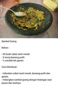 Sambal Goang Sambal Sauce, Sambal Recipe, Cooking Ingredients, Cooking Recipes, Cooking Tips, Asian Recipes, Healthy Recipes, Ethnic Recipes, Food N