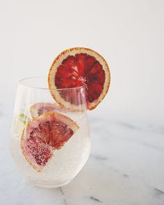 Citrus spritzer cocktail.