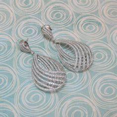 Dimensional Diamond Earrings (6 carats)