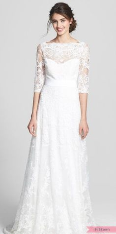 Marchesa Corded Lace Dress (In Stores Only) available at Wedding Dress- Mulan inspired with the lace/flower pattern 2015 Wedding Dresses, Wedding Suits, Wedding Bride, Bridal Dresses, Bridesmaid Dresses, Lace Wedding, Christian Wedding Gowns, Nordstrom Dresses, The Dress