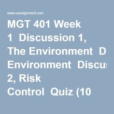 Mgt401 assignment 2 solution - Solution assignment