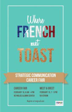 Strategic Communication Career Fair Poster Designs - twitter.com/chase_koeneke
