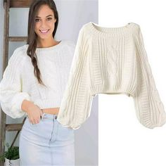 Tienda Online Para Mujer Knit Sweater Pullover mujeres 2015 otoño Chompas Mujer O cuello Tops moda otoño Pull Femme mujeres suéteres Winter Fashion Outfits, Autumn Fashion, Girls Crop Tops, Winter Sweaters, Cute Casual Outfits, Cardigans For Women, Clothes For Women, Blog, Cheap Sweaters