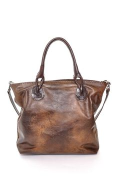 Vintage Leather Shopper  - I love the worn in look